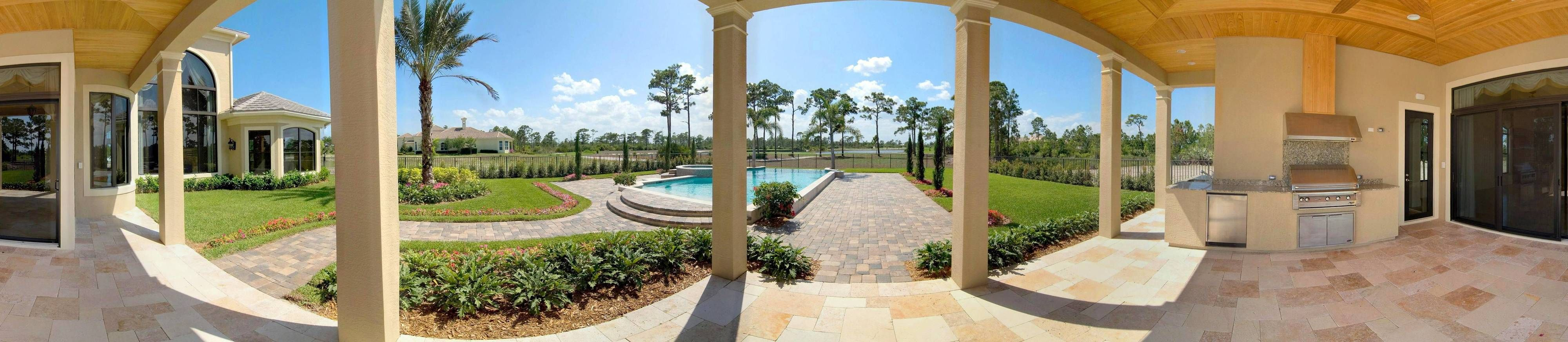 1st Floor Rear Covered Patio & Pool