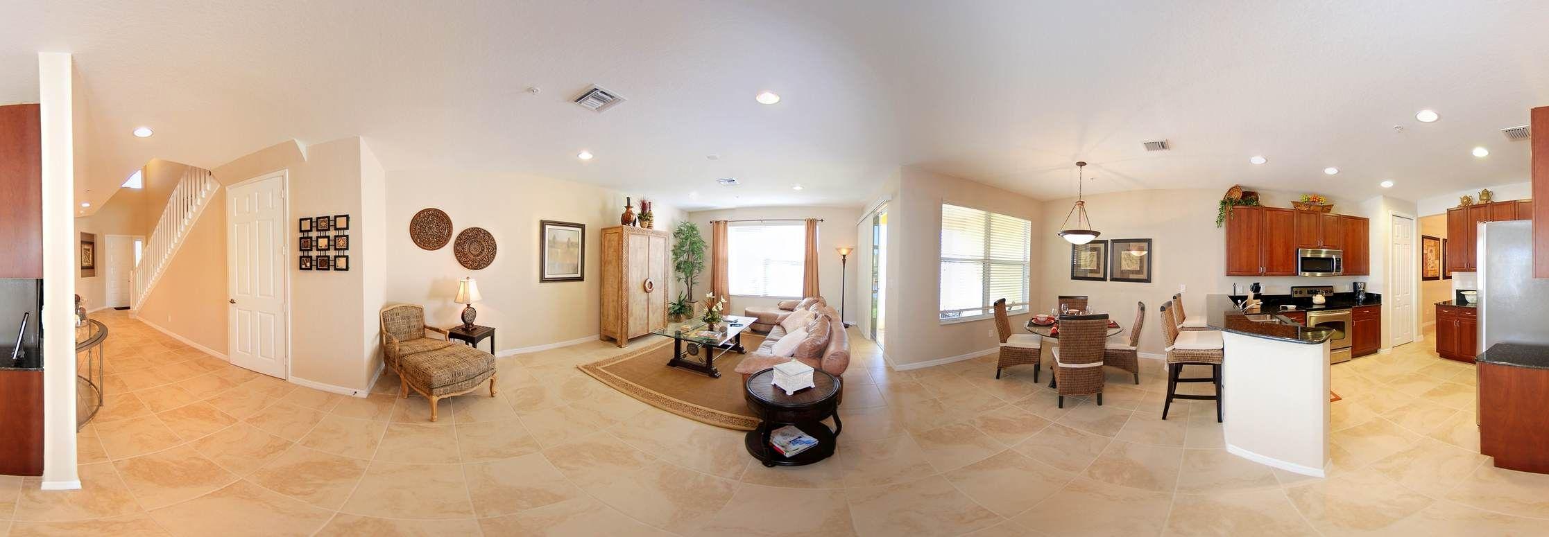 Great Room, Kitchen & Breakfast Room